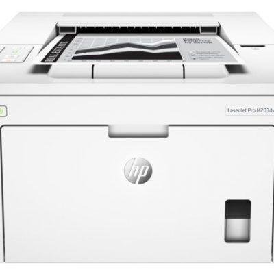 impresora hp color blanco vista desde el frente