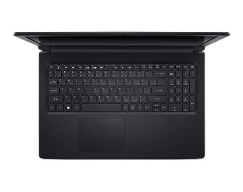 computador portatil marca acer color negro visto desde arriba y con la tapa abierta