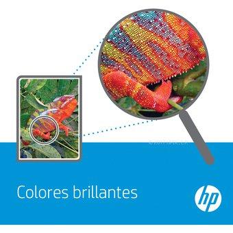 muestra de colores hp con un camaleon
