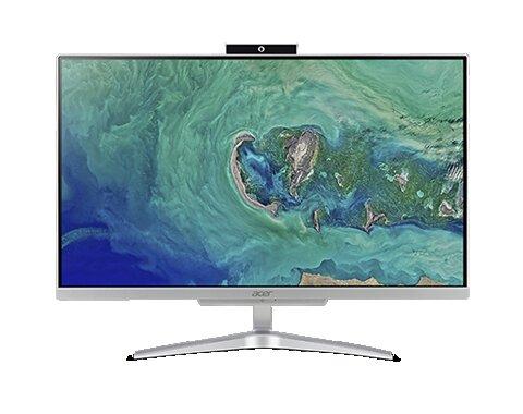 computador todo en uno marca acer visto de frente con imagen en la pantalla